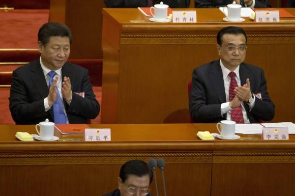 中共總書記習近平(左)、中國國務院總理李克強(右)。(資料照,美聯社)