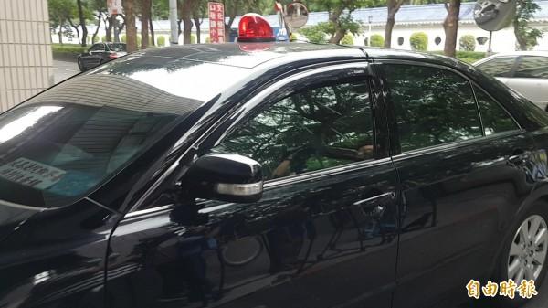 目前在押的國寶集團總裁朱國榮,今天下午被借提至特偵組應訊。(記者錢利忠攝)