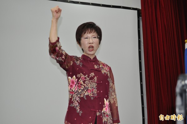 中國國民黨主席洪秀柱批前總統李登輝是「那個日本人」。(記者周敏鴻攝)