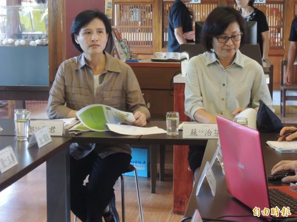文化部長鄭麗君(左)相當肯定雲林地方的努力。(記者廖淑玲攝)