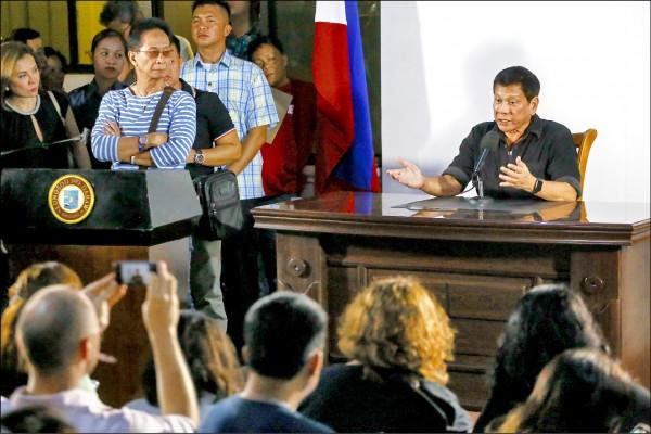 菲律賓總統當選人杜特蒂。(法新社資料照)