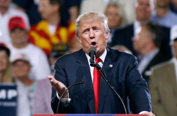 美國共和黨總統參選人川普重申支持英國脫離歐盟。(法新社)