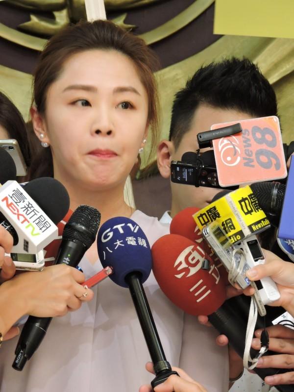 李婉鈺昨日被媒體追問感情問題時,明顯不願多談。(資料照,記者何玉華攝)
