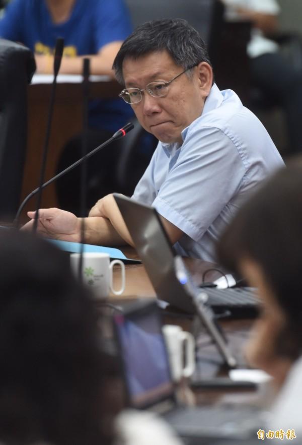 郝龍斌建議柯文哲自己擔任世大運執委會執行長,柯表示市長也不可能全部時間處理世大運。(資料照,記者簡榮豐攝)