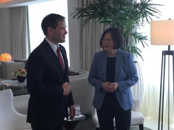 盧比歐強調,美國國會展現對台灣的支持,會確保台灣的安全與和平。(圖取自推特)