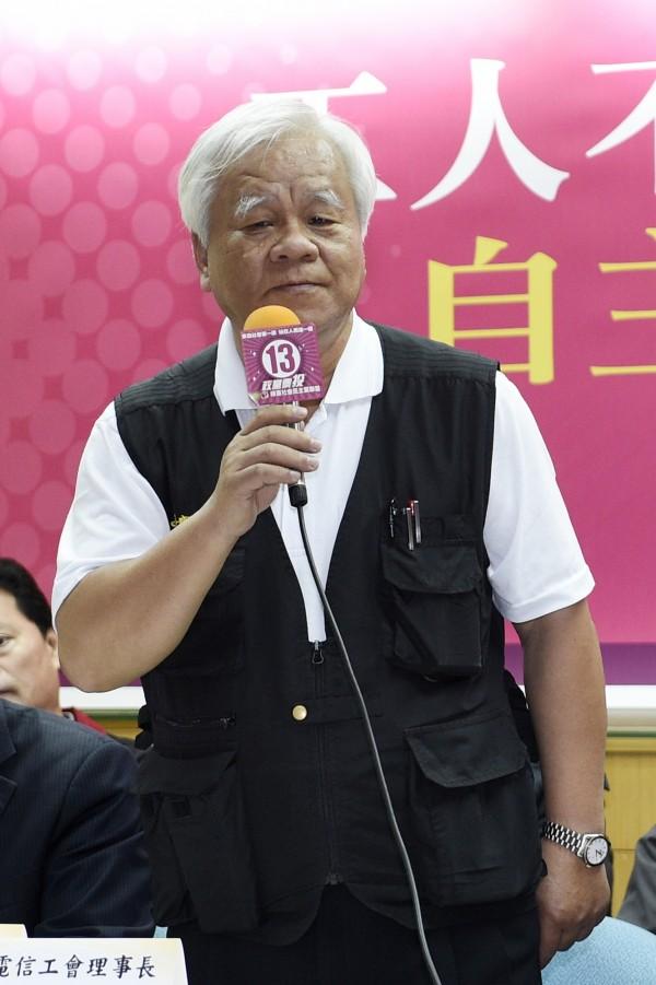 中華電信工會理事長朱傳炳嚴正否認醞釀罷工的傳聞,強調完全沒有這件事。(資料照,記者叢昌瑾攝)