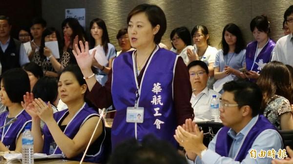 華航企業工會日前聲明,要求全體員工都應比照空服員罷工爭取到的訴求。(資料照,記者姚介修攝)