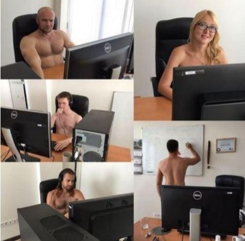 白俄羅斯總統盧卡申科(Alexander Lukashenko)呼籲國民「脫掉衣服工作直到流汗為止」,沒想到當地年輕人都乖乖聽話,紛紛全裸上班。(圖擷自《BBC》)