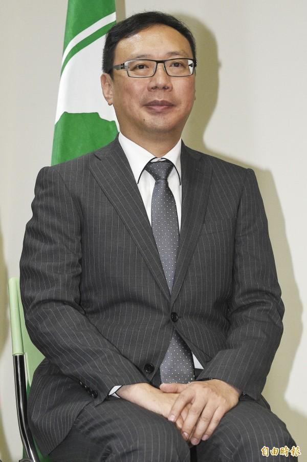 民進黨發言人黃適卓。(資料照,記者陳志曲攝)