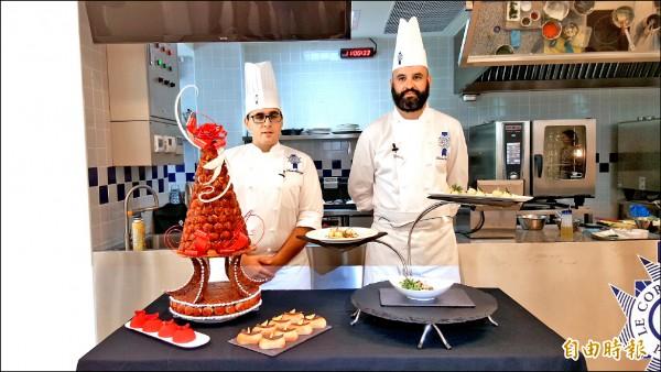 藍帶主廚完成的法國美食,令人垂涎。(記者洪臣宏攝)