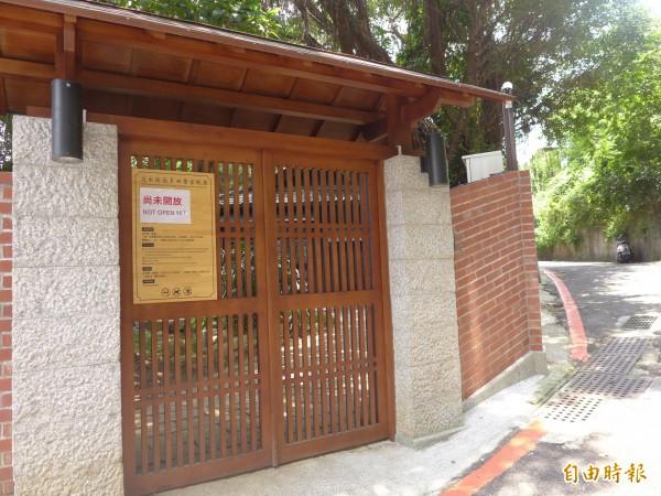 直轄市定古蹟「淡水街長多田榮吉故居 」修復工程完成,現狀尚未開放。(記者李雅雯攝)
