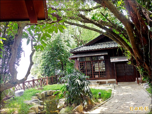多田榮吉故居位置在相對高處,視野極佳。(記者李雅雯攝)