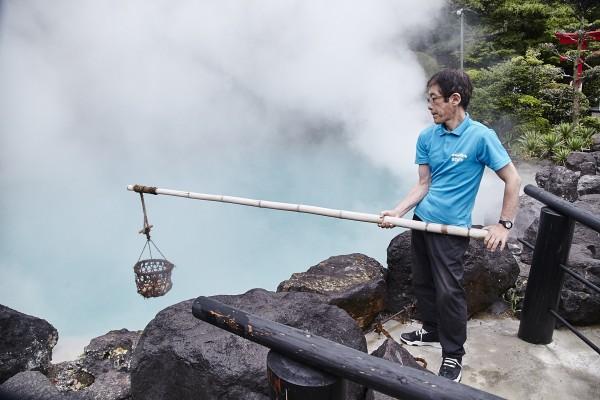 日本大分縣的別府溫泉。(華信航空提供)