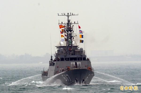 海軍未受雄三誤射影響,持續推動10多艘國艦國造進程。圖為錦江級巡邏艦617艦。(資料照,記者張忠義攝)