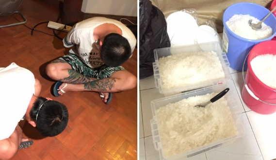 菲律賓緝毒單位昨晚進行掃毒行動,在大馬尼拉都會區的郊區破獲2處地下製毒廠,並逮捕3名台灣人。(圖擷自abs-cbn)