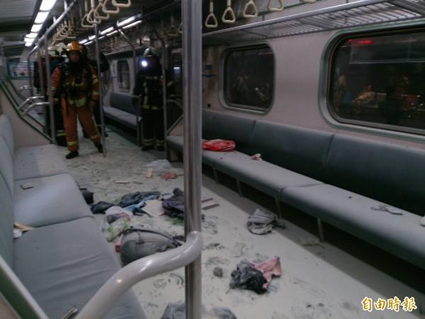 台鐵列車爆炸。(資料照)