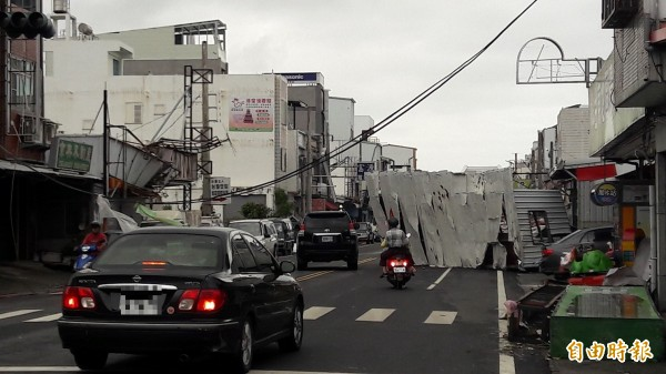 台東市災情相當慘重。(資料照,記者黃明堂攝)