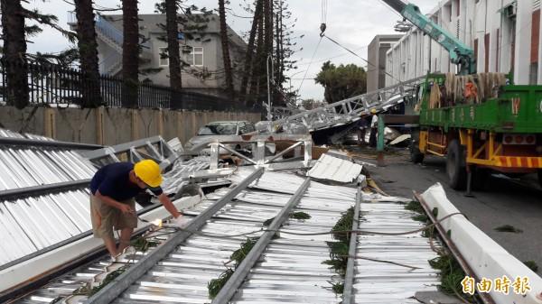 尼伯特颱風重創台東。(資料照,記者黃明堂攝)