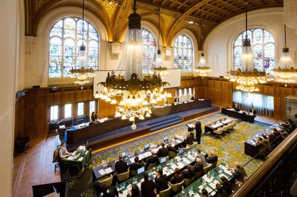 荷蘭海牙常設仲裁法院宣布南海仲裁案結果。(美聯社)