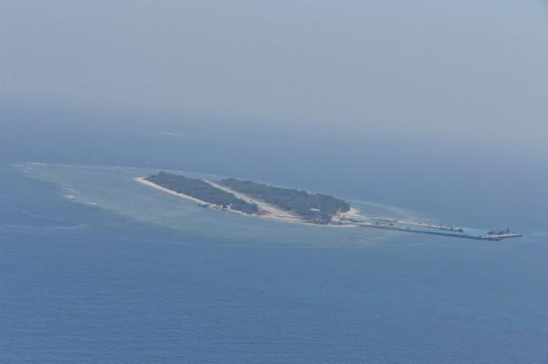 圖為太平島空拍照。(資料照)