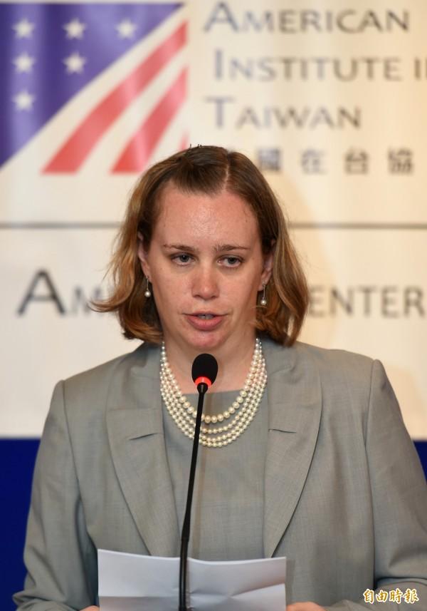 AIT代理發言人蘇阿麗。(資料照,記者張嘉明攝)