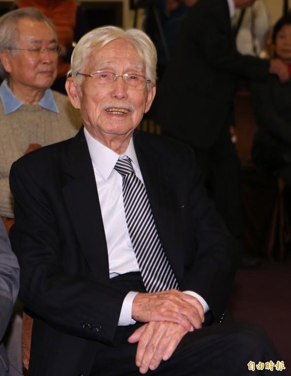新台灣和平基金會董事長辜寬敏表示,其實不用堅持於台獨黨綱,因為台灣已經是個獨立的國家。(資料照,記者陳逸寬攝)