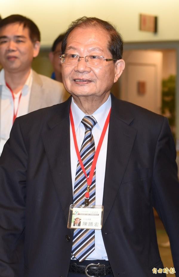 民進黨中常委當選人陳勝宏。(記者簡榮豐攝)