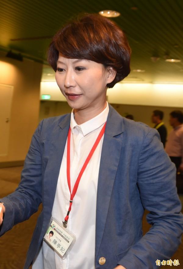 民進黨中常委當選人陳亭妃。(記者簡榮豐攝)