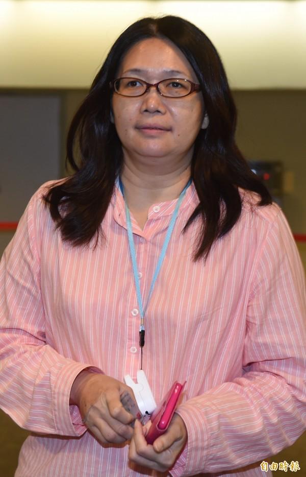 民進黨中常委當選人林瑩蓉。(記者簡榮豐攝)