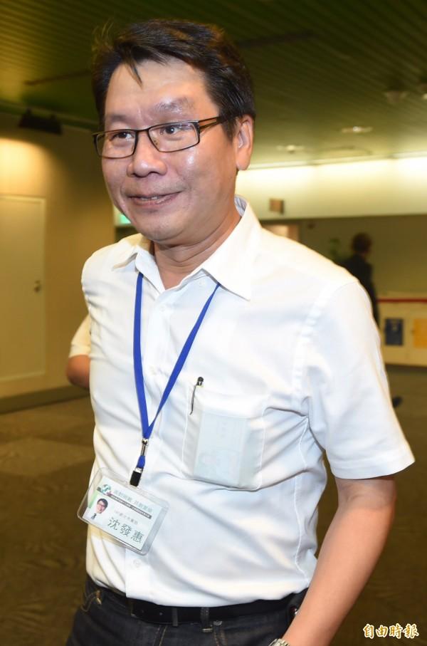 民進黨中常委當選人沈發惠。(記者簡榮豐攝)