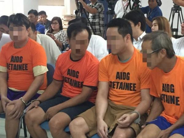 近來菲國在蘇比克灣海域逮捕4名中國男子,這艘漁船很可能被當作「海上製毒室」(圖截自Inquirer.net)