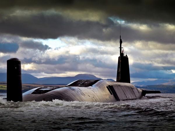 英國國會昨投票通過英國核子潛艦所搭載的三叉戟核武系統。(歐新社)