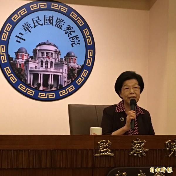 監察院長張博雅。(記者林良昇攝)