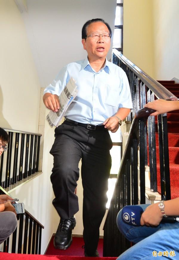 立法院黨團協商,國民黨黨團書記長林德福出席。(記者王藝菘攝)