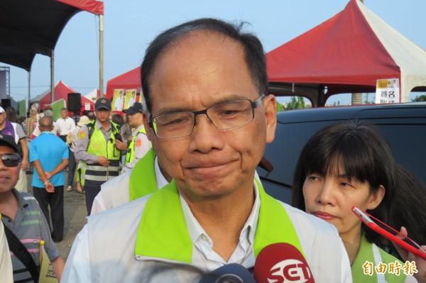 游錫堃認為當好爸爸很重要,但當好市長更重要。(資料照,記者俞肇福攝)
