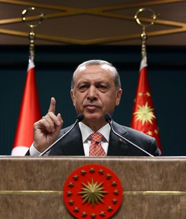 土耳其總統艾多根計劃把土耳其軍隊重整。(法新社)