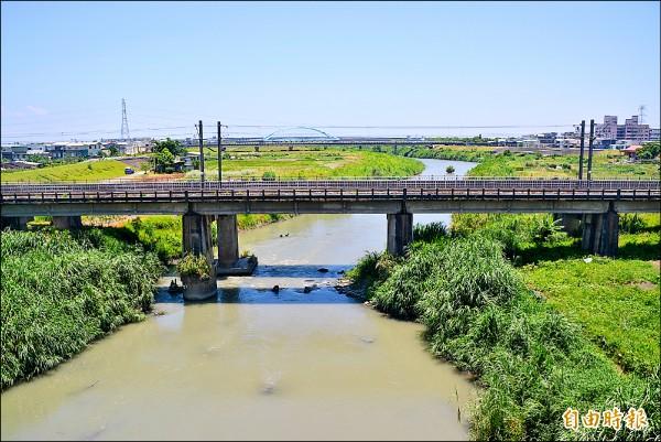 宜縣府公佈縣轄易淹水低窪地區,主要在宜蘭河等流域附近。(記者游明金攝)