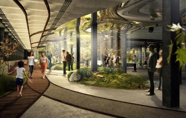 紐約市將打造出全球第一座地下公園,讓綠億走進地下。(圖擷取自dezeen)