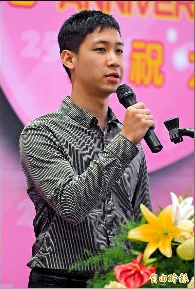 「張小弟」也是亞洲「最資深」的試管嬰兒,現在他健康成長,並且升格當爸了。圖為張小弟25歲時參加台北榮總活動致詞。(資料照,記者王藝菘攝)