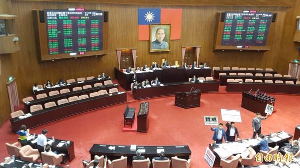 政黨及其附屬組織不當取得財產處理條例草案昨晚表決通過。(資料照,記者陳志曲攝)