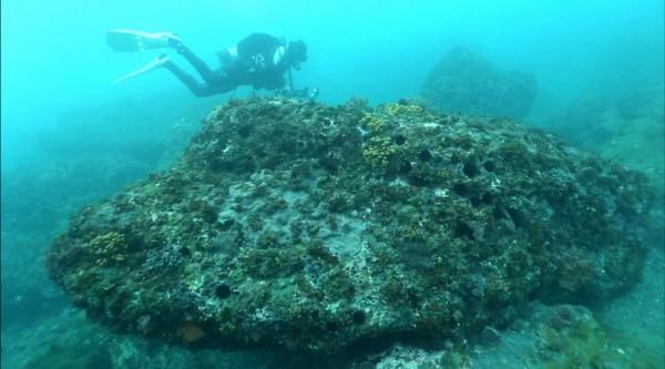 中華水下考古協會負責這次的水下探勘。(記者林敬倫翻攝)