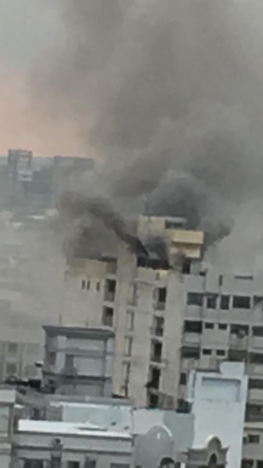 台南市中西區金華路上喜來登名揚大廈,在今天晚間6點10分許傳出重大火警。(圖擷取自爆料公社)