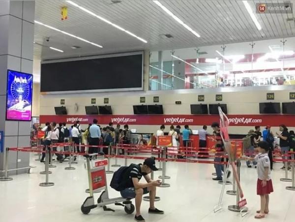 河內內排國際機場的螢幕全數關閉。(圖擷自kenh14.vn)
