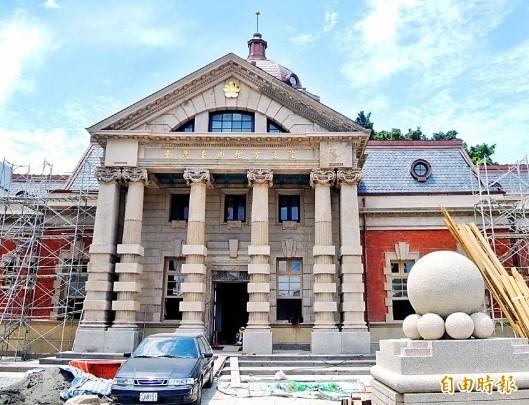 原台南地院國定古蹟即將修護完工。(記者洪瑞琴攝)