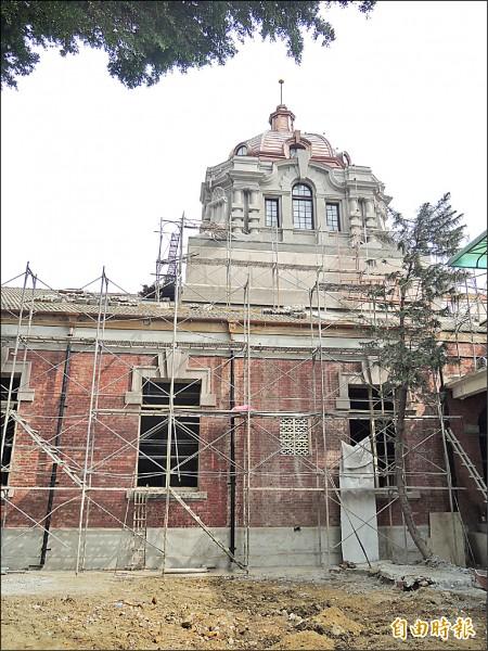 原台南地方法院古蹟即將修復完工。 (記者洪瑞琴攝)