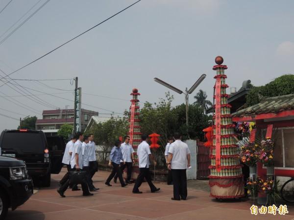 總統蔡英文到雲林悼祭農運先驅「國華仙」。(記者廖淑玲攝)
