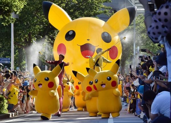 今日下午橫濱舉行皮卡丘大遊行。(法新社)