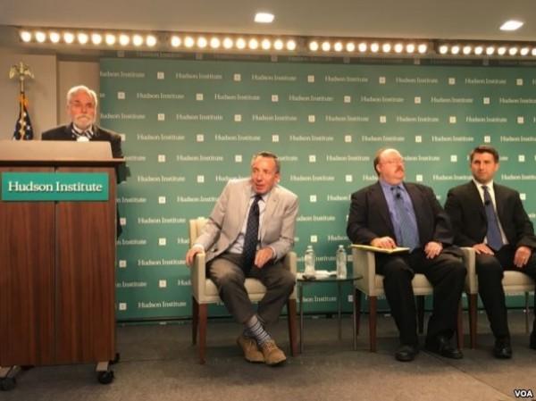 美國哈德遜研究所「美國如何防衛台灣」座談會。(圖擷自《美國之音》)