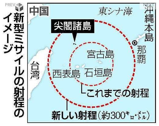 中國與日本近期在釣魚台海域的對峙態勢日漸升高,日本當局為加強防衛,初步決定研發新型地對艦導彈,導彈射程涵蓋釣魚台。(圖擷取自《讀賣新聞》)