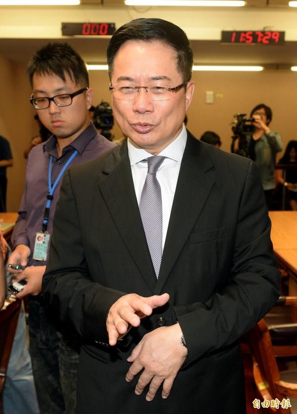 國民黨政策會執行長蔡正元一邊恭喜楊偉中,一邊又酸度破表地祝他「千年不死」、「步步高升」。(資料照,記者林正堃攝)